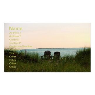Sillas de playa tarjetas de visita