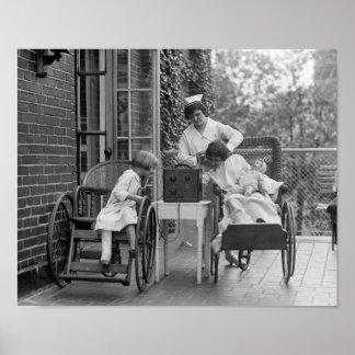Sillas de ruedas de mimbre los años 20 impresiones