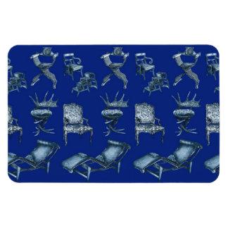 Sillas múltiples en azul marino iman de vinilo