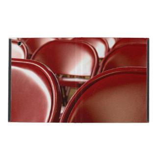 Sillas plegables rojas iPad carcasas