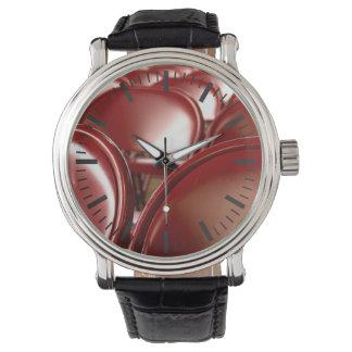 Sillas plegables rojas relojes de mano