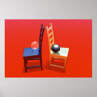 sillas póster