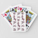 Sillas púrpuras barajas de cartas