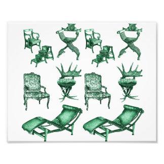 Sillas verdes fotografias