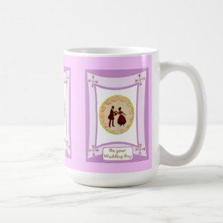 Sillhouette bridal figures coffee mug