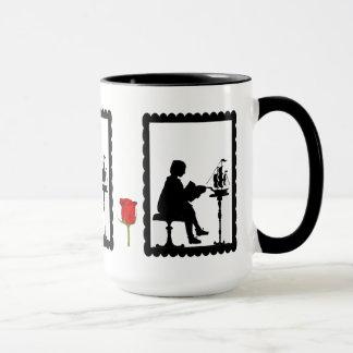 SIllhouette mug, Boy with a model ship Mug