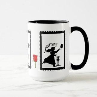 SIllhouette mug, Chasing a balloon Mug