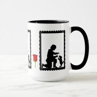 SIllhouette mug, Child with a dog Mug