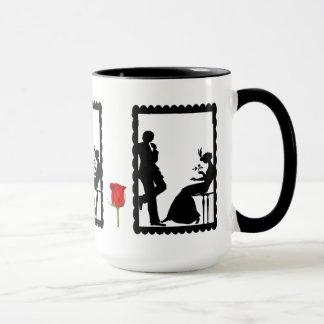 SIllhouette mug, Courting couple Mug