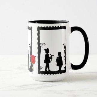 SIllhouette mug, Girls with dolls Mug