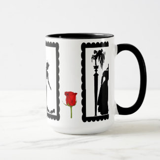 SIllhouette mug, Lady with birds Mug