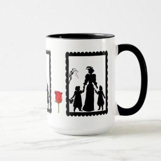 SIllhouette mug, Mother and daughters Mug