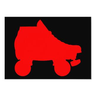 """sillouette del patín de ruedas invitación 4.5"""" x 6.25"""""""