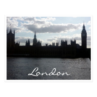 sillouette Londres del parlamento Tarjeta Postal