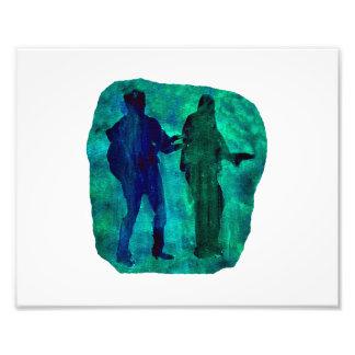 Sillouttes del Watercolour del trullo de dos guita Fotografías