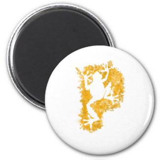 silluete Phibbie TShirt+gold_trans copy 2 Inch Round Magnet