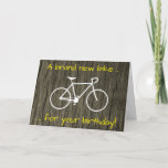 "[ Thumbnail: Silly ""A Brand New Bike For Your Birthday!"" Card ]"