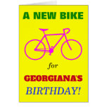 "[ Thumbnail: Silly ""A New Bike For Name's Birthday!"" Card ]"