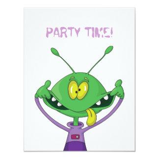 Silly Alien Halloween Party Invitation