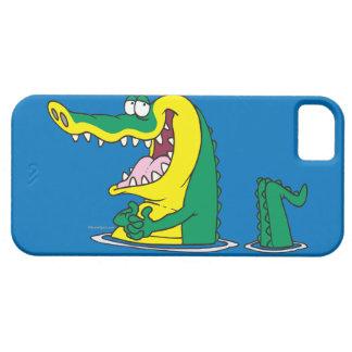 silly alligator crocodile cartoon character iPhone SE/5/5s case