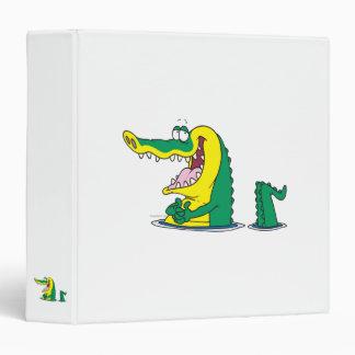silly alligator crocodile cartoon character vinyl binders
