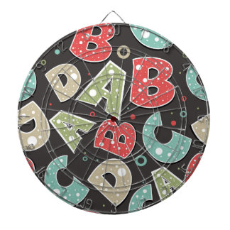Silly Alphabet Letters A-B-C-D Dart Board