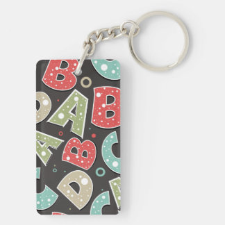 Silly Alphabet Letters A-B-C-D Keychain