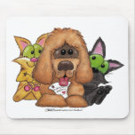 Silly and Tig with Sassie-Pet Adoption is LOVE Mouse Pad