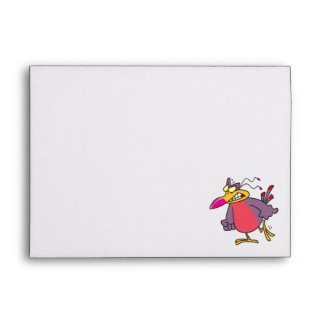 silly angry mad bird cartoon character envelopes