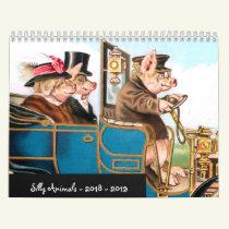 SIlly Animals 2018 - 2019 Calendar