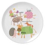 Silly Animals Dinner Plates