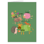 Silly Animals Greeting Card