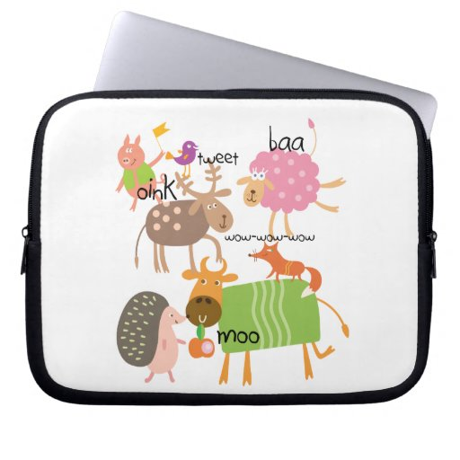 Silly Animals Laptop Sleeves