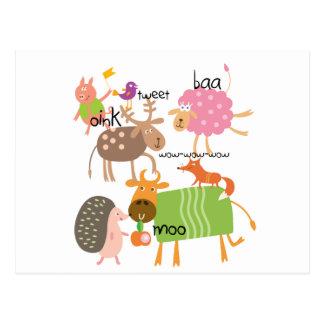Silly Animals Postcard