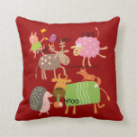 Silly Animals Throw Pillow