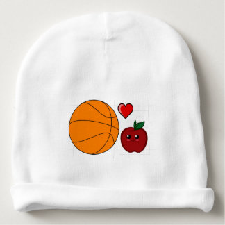 Silly Apple Basketball Fan Baby Beanie