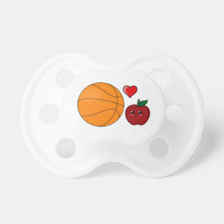 Silly Apple Loves Basketball Pacifier