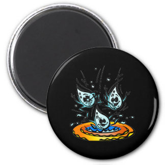 Silly April Showers Raindrops Magnet