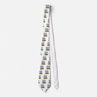 Silly April Showers Raindrops Tie