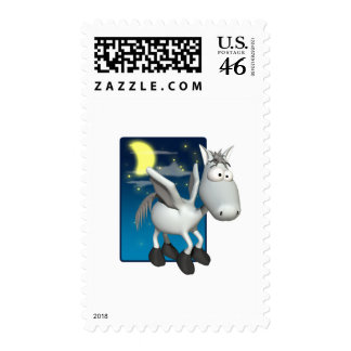 silly baby pegasus postage stamp