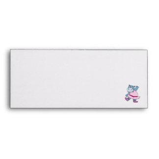silly ballerina hippo envelope
