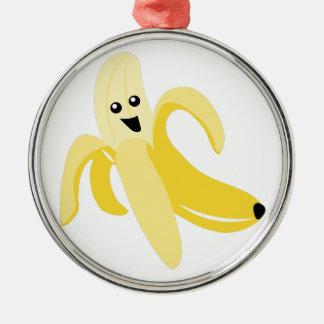 Silly Banana Metal Ornament