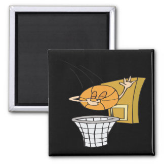 Silly Basketball Magnet