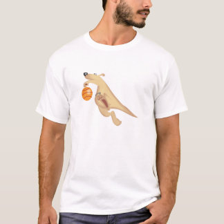 silly basketball playing kangaroo T-Shirt