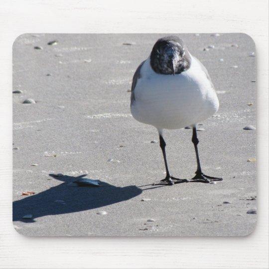 Silly Beach Bird Mouse Pad