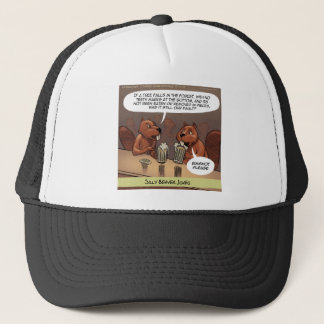 Silly Beaver Jokes Funny Cartoon Trucker Hat