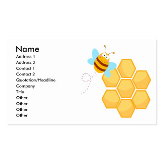 silly bee and beehive honey comb Double-Sided standard business cards (Pack of 100)