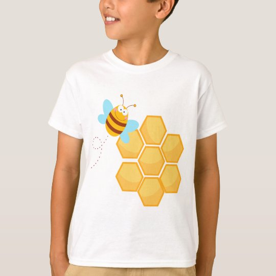 silly bee and beehive honey comb T-Shirt