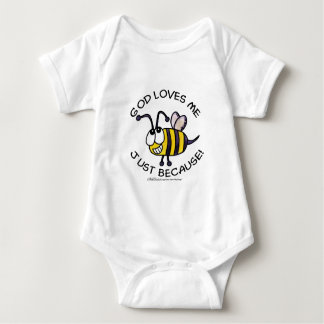 Silly Bee-God Loves Me Just Because Baby Bodysuit