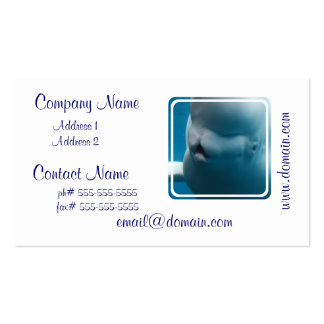 Silly Beluga Whale Business Card